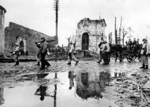 Duitse troepen in Narva.