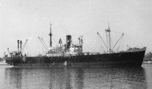 De in 1944 gebouwde Michael Ferdinand was een van de transportschepen die 'Nederland' terugvoer naar Stettin.
